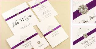 wedding invitations on a budget handmade invitations rectangle potrait purple