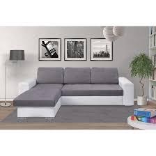 canap relaxima soho â e canapé convertible d angle réversible avec coffre gris