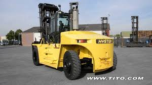 tito com used hyster 16 ton forklift h16 00xm 12 a236 driving