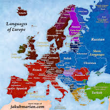 map to europe map of languages and language families of europe