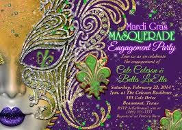 purple mardi gras quinceanera masquerade party birthday masquerade invitation