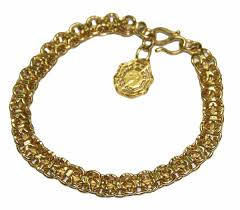 gold chain charm bracelet images 24k solid yellow gold charm bracelet with yin and yang symbol JPG