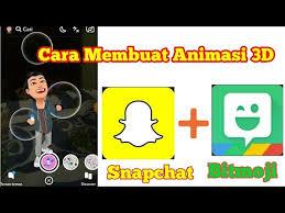 bikin video animasi snapchat cara membuat animasi 3d snapchat menggunakan bitmoji youtube