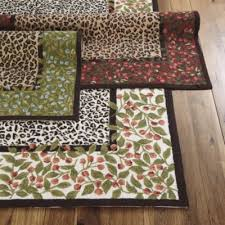 savannah rug leopard print area rug blooming red roses rug