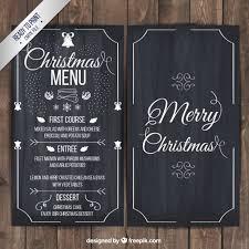 christmas menu on blackboard vector free download