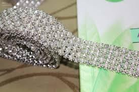 pearl ribbon p4 1 yard 5 rows diamond a rhinestone and pearl wedding cake
