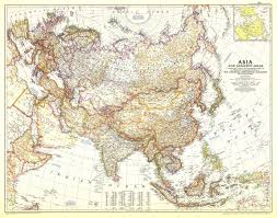 Asia Map by 1951 Asia And Adjacent Areas Map Historical Maps