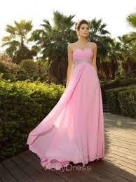 a linie herzausschnitt sweep pinsel zug chiffon brautjungfernkleid mit ruschen blumen p539 rosa festliche kleider vickydress
