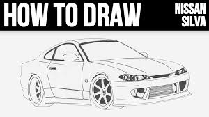 lamborghini aventador drawing outline how to draw nissan silvia s15 step by step youtube