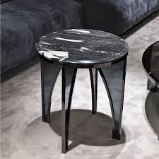 contemporary side table glass metal marble karl y 703 by