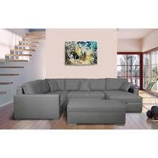 grand canapé d angle tissu grand canapé d angle fixe à gauche avec coffre en tissu gris clair