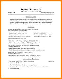 Simple Resume For College Student Sample Resume For College Student 10 Examples In Word Pdf 6