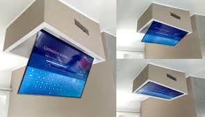 tv a soffitto supporto tv soffitto elettrico idee di immagini di casamia