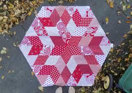 sewn hexagonal christmas tree skirt