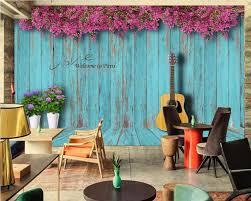3 d photo wallpaper coffee bar music guitar home decor custom