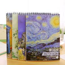 beautiful vincent van gogh oil painting the starry night a4 coil