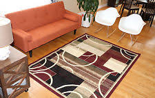 Area Rugs With Circles Circles Contemporary Area Rugs Ebay