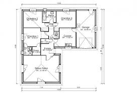 plan de maison de plain pied avec 3 chambres plan maison plain pied 4 chambres garage maison