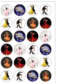 Home Button Decorations by Strictly Come Dancing Edible Cupcake Toppers Stand Up Wafer