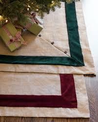 Christmas Tree Skirt Burlap Red Berry Picks Set Of 12 Balsam Hill