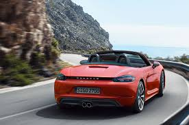 porsche boxster rear 2017 porsche 718 boxster revealed with new turbo engines