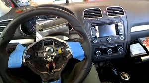 volkswagen golf gti mk6 steering wheel u0026 airbag removal swap