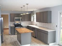 kitchen with flat panel cabinets u0026 specialty door in westerville