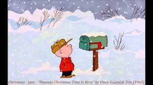 peanuts christmas christmas jazz peanuts christmas time is here by vince