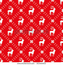 pixel wrapping paper christmas seamless pattern deer snowflake diagonal stock vector