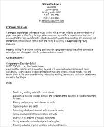 musician resume template 42 teacher resume formats music resume