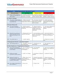 project assessment template project management needs assessment