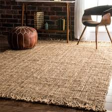 hand woven natural fiber natural fiber jute bleached rug free