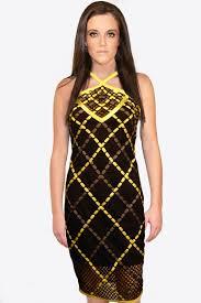 halter dress black halter dress yellow gray weaving skystruk fashion boutique