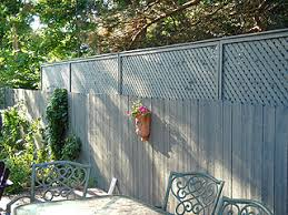 4 Ft Fence Panels With Trellis Another Idea For Making The Fence Taller This One I Know I Can