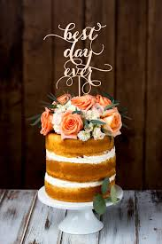 best cake toppers items similar to wedding cake topper best day birch on etsy