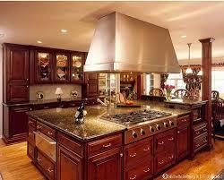 Kitchen Ideas With Cherry Cabinets Dark Cherry Cabinets Stainless Steel Appliances Hardwood Floors