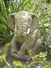 elephants garden ornaments ebay