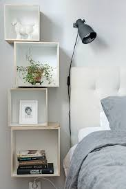 ideas for small rooms box shelves as bedside tables for small spaces indoors outdoors