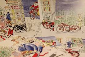 christmas cards pack of 10 national motorcycle museum