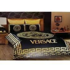 versace bedding set satin medusa duvet set gold black polyvore