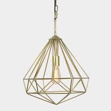 Gold Pendant Lighting Gold Geometric Pendant Chantelle Events