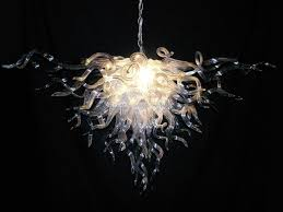 Chihuly Glass Chandelier Dale Chihuly Style Murano Glass Chandelier In Clear Hanging Led