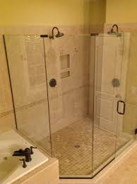 Glass Shower Door Handle Parts by Bathroom Frameless Shower Doors Matched With Tan Wall For