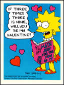 simpsons valentines day card the simpsons archive greeting cards simpsons valentines
