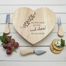 monogrammed cheese plate personalised cheese board gifts luxe gift store