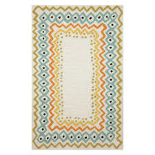 Coral Outdoor Rug by Liora Manne Import Co Capri Ethnic Border Indoor Outdoor Rugs