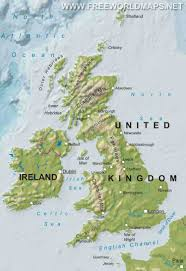 World Map Scotland by United Kingdom Physical Map