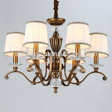 Iron Chandelier With Crystals Modern Gold Copper K9 K5 Crystal Iron Chandelier With Fabric View