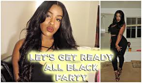 plus size all black party grwm jcpenney collab youtube
