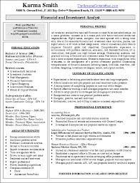 Resume With Summary Investment Banking Analyst Resume Berathen Com